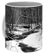 Winter At Pedelo Black And White Coffee Mug