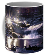 Winter At The Woodlands Waterfall In Wilkes Barre Coffee Mug