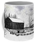 Winter Barn Impasto Version Coffee Mug