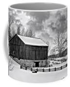 Winter Barn Monochrome Coffee Mug