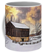 Winter Barn - Paint Coffee Mug