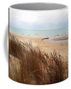 Winter Beach At Pier Cove Coffee Mug