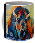 Winter Bison Coffee Mug
