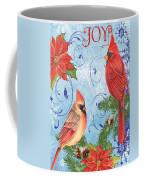 Winter Blue Cardinals-joy Card Coffee Mug