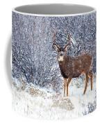 Winter Buck Coffee Mug by Darren  White