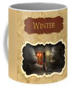 Winter Button Coffee Mug by Mike Savad