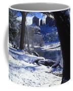Winter Cathedral Rock Coffee Mug