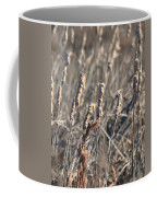 Winter Cattail Abstract Coffee Mug