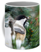 Winter Chickadee With Seed Coffee Mug