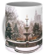 Winter - City Hall Fountain - New York City Coffee Mug