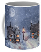 Winter Cottages In Snow Coffee Mug
