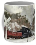 Winter Crossbuck Crossing Coffee Mug