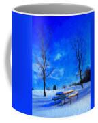 Winter Day On Canvas Coffee Mug