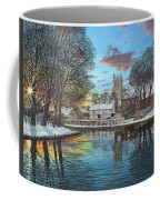 Winter Evening Tickhill Yorkshire Coffee Mug
