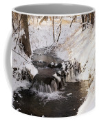 Winter Falls On Big Stone Lake  Coffee Mug