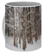 Winter Forest Abstract II Coffee Mug