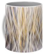 Winter Grass Abstract Coffee Mug
