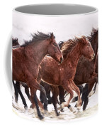 Winter Hardened Wild Horses Coffee Mug