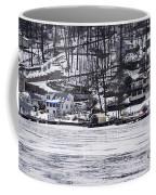 Winter Ice Lake Scene Hopatcong Covered Port Coffee Mug