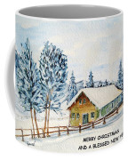 Winter Idyll With Text Coffee Mug