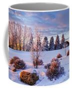Winter In Pink Color Coffee Mug
