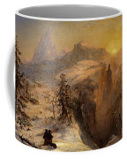 Winter In Switzerland Coffee Mug by Jasper Francis Cropsey