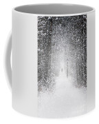 Snowing In The Forrest Coffee Mug