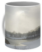 Winter Lake And Forest Coffee Mug