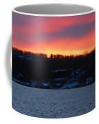 Winter Lake Sunset Coffee Mug