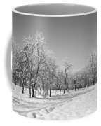 Winter Landscape In Bw Coffee Mug