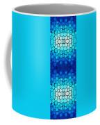Winter Lights - Blue Mosaic Art By Sharon Cummings Coffee Mug