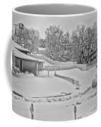 Winter Lines Black And White Coffee Mug