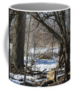 Winter Log Coffee Mug