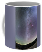 Winter Milky Way From New Mexico Coffee Mug