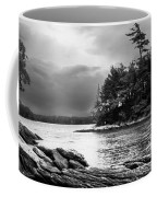 Winter Moonlight Wolfes Neck Woods Maine Coffee Mug by Bob Orsillo