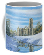 Winter Morning Fountains Abbey Yorkshire Coffee Mug by Richard Harpum