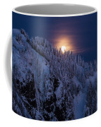 Winter Mountain Moonrise Coffee Mug