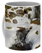 Winter Mountain Stream Coffee Mug