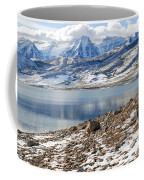 Winter Mt. Timpanogos And Deer Creek Reservoir Coffee Mug