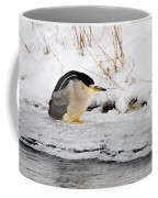 Winter Night Heron Coffee Mug