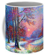 Winter Nightfall, Snow Scene  Coffee Mug