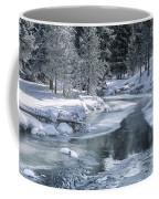 Winter On The Firehole River - Yellowstone National Park Coffee Mug by Sandra Bronstein