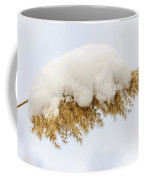 Winter Reed Under Snow Coffee Mug