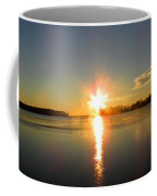 Winter River Sunrise Coffee Mug