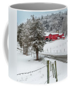 Winter Road Square Coffee Mug by Bill Wakeley