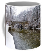 Winter Scene At Valley Green Coffee Mug