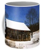 Winter Scenic Farm Coffee Mug by Christina Rollo