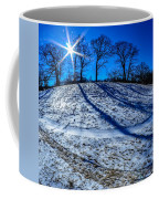 Winter Scinery In The Mountains With Bllue Sky And Sunshine Coffee Mug