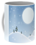 Winter Snow Scene Coffee Mug