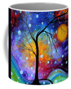Winter Sparkle Original Madart Painting Coffee Mug by Megan Duncanson